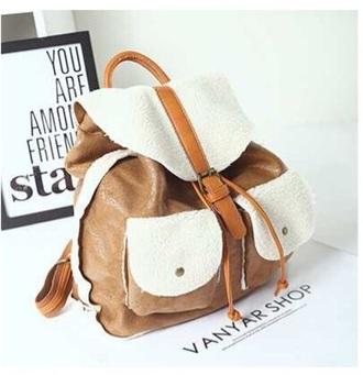 bag brown white
