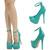 Sea Green Mary Jane Ankle Strap High Heel Platform Stiletto Pump Sandal US Sz8 5 | eBay