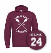 sweater,burgundy,stilinaki hoodies,maroon hoodies,beacon hills lacrosse,beacon hills teen wolf,beacon hills,Stilinski 24 shirt,hoodies love set,stiletto nails,stillinski,Shirt Stilinski 24