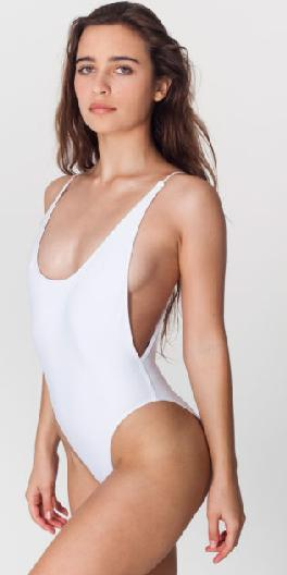 New Black/White/Red Sexy High Cut Cut-Out One Piece Swimwear Monokini XS S M L