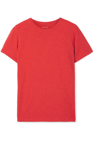 t-shirt shirt cotton red top