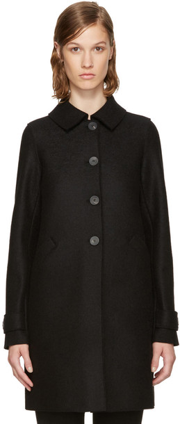 HARRIS WHARF LONDON coat black wool