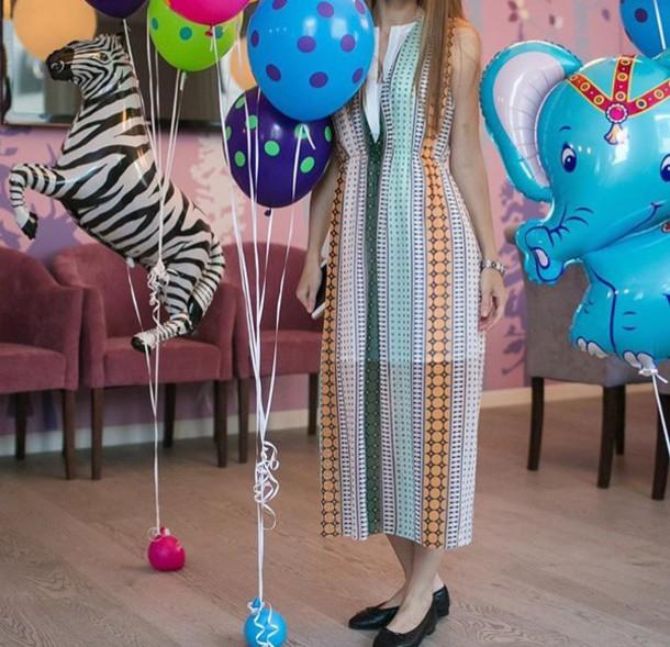 dress multicolor midi dress