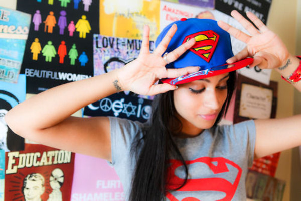 hat superman red yellow blue snapback snapback