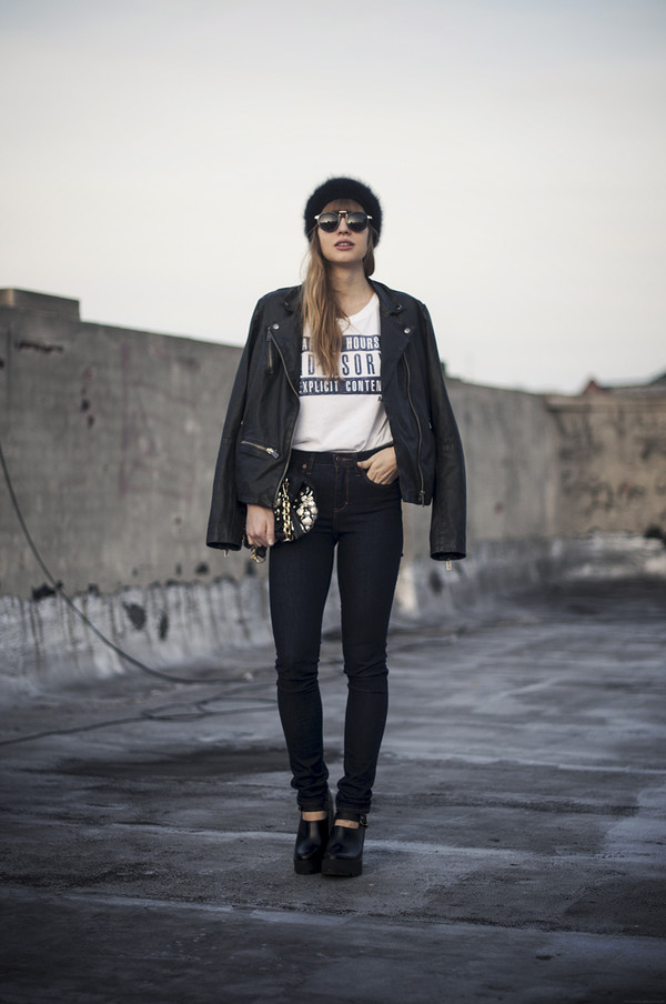just another me t-shirt jeans jacket shoes hat bag sunglasses