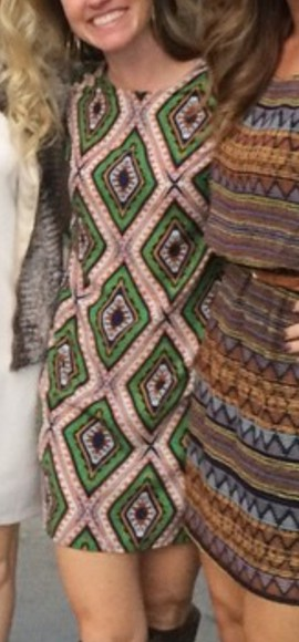 dress geometric african print