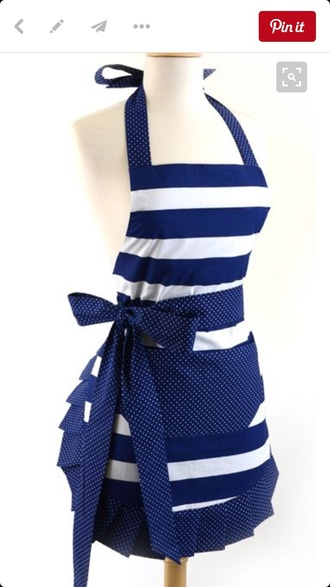 home accessory apron navy striped