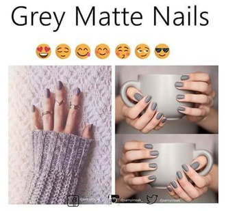 nail polish grey matt fall outfits