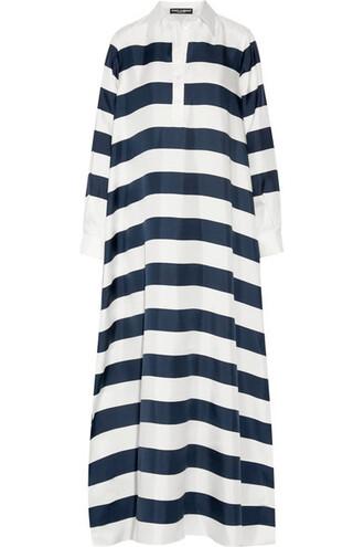 oversized navy silk top
