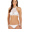 Chica white mesh shell applique bikini set