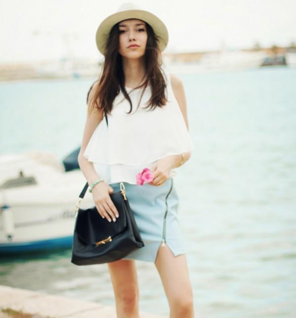 belt bag black bag beach streetstyle stylemoi elegant outfit