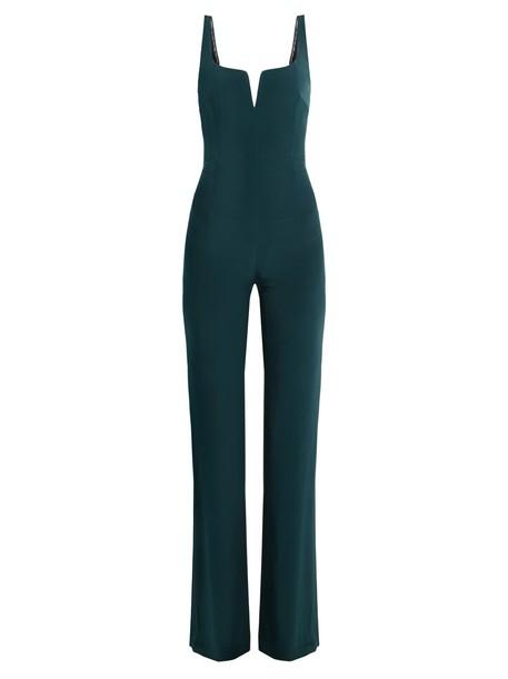 Galvan jumpsuit dark green