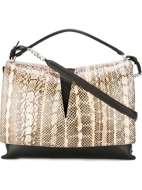 Jil Sander snake women snake skin leather black bag
