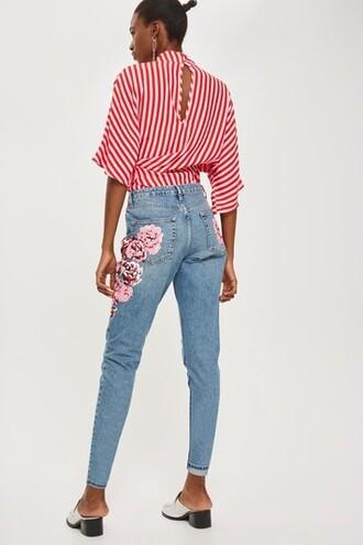 jeans mom jeans print