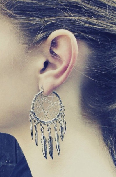 jewels earrings dreamcatcher hipster