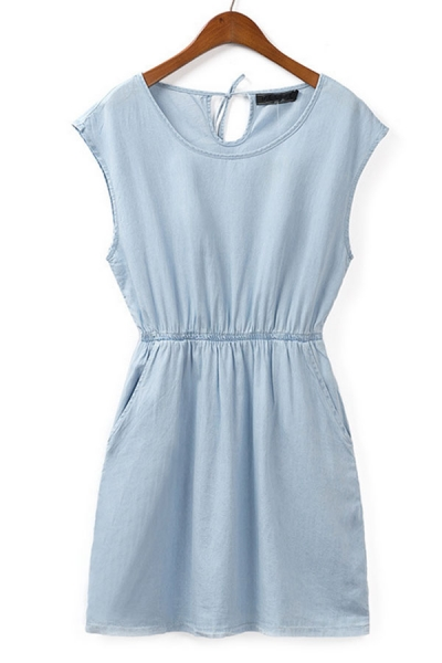 Easy Denim Dress - OASAP.com