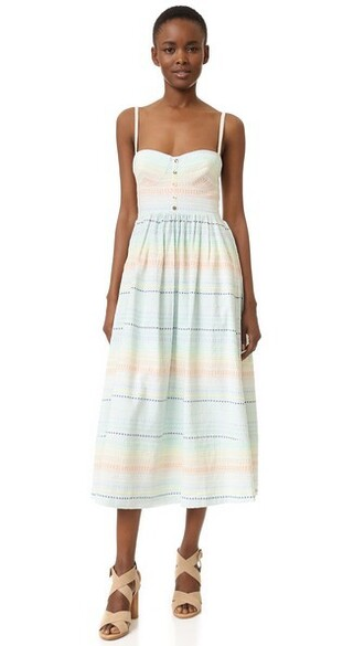 dress bustier dress rainbow pastel