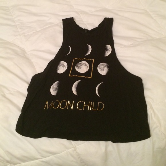 Black moon child tank top from faith's closet on poshmark