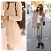 coat,jacket,faux fur,faux fur jacket,white fur coat,white feather coatf,fashion,fashion blogger,ootd,look of the day