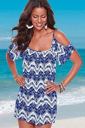 dress,blue dress,casual dress,sexy dress,bare shoulder dress,maykool,summer,fashion,girly wishlist,chevron dresses