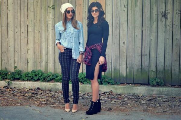 the sams t-shirt hat pants sunglasses dress shirt shoes