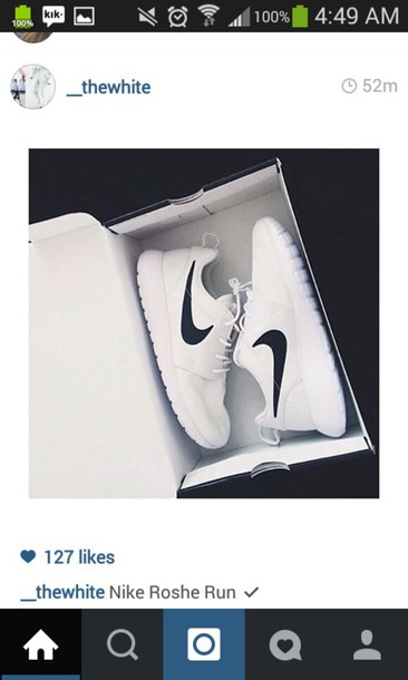 shoes nike running shoes nike shoes roshe runs all white rosches