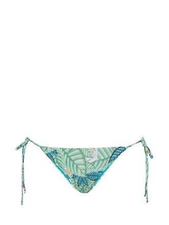 bikini print green swimwear