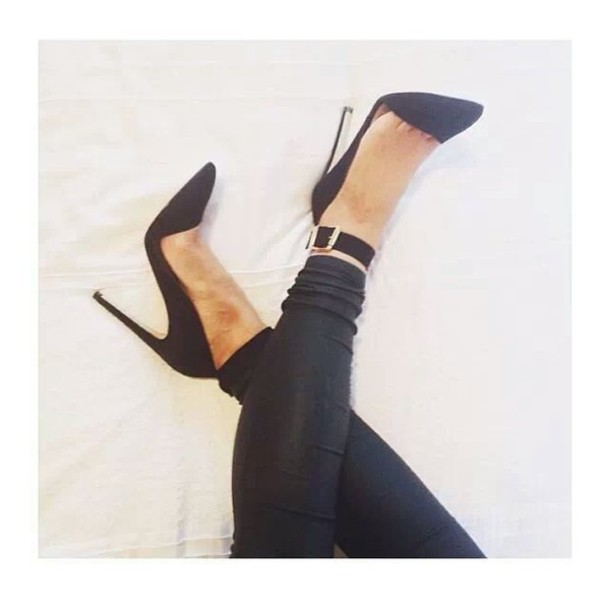 shoes high heels pants black black high heels buckles black high heels gold bussines classy open black heels