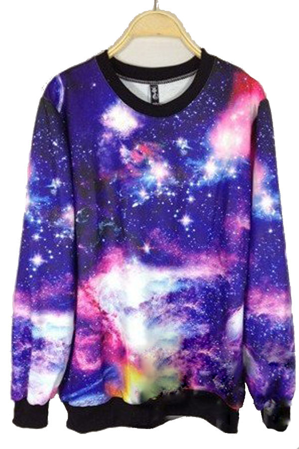 Dye purple and blue galaxy sweatshirt