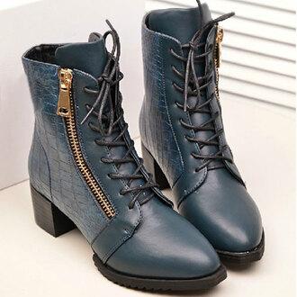 shoes boot roman zip