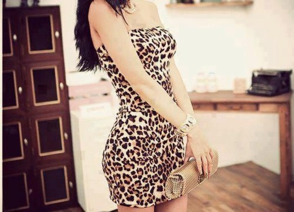 animal print dress dress leopard print tigr