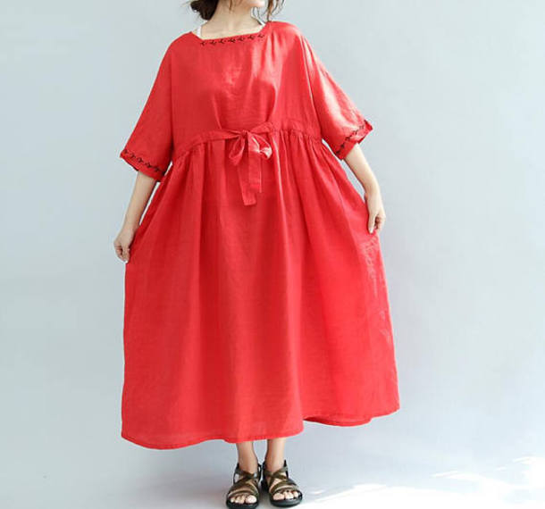 dress red long dress
