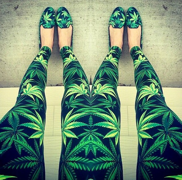 leggings marijuana shoes flats