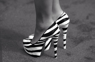 shoes high heels zebra print