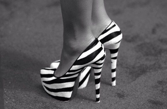zebra shoes high heels