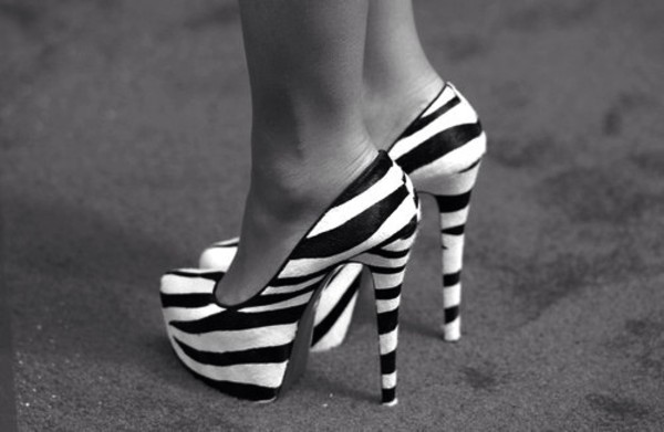 shoes high heels zebra louboutin