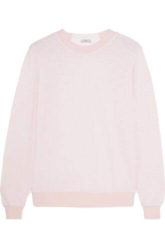 sweatshirt bow embellished pastel pink pastel pink sweater