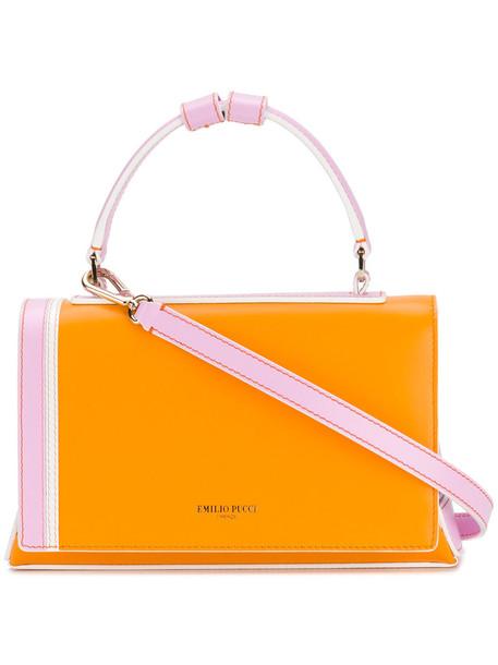 Emilio Pucci women bag shoulder bag leather yellow orange