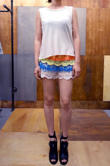 top crochet shorts crop tops shorts