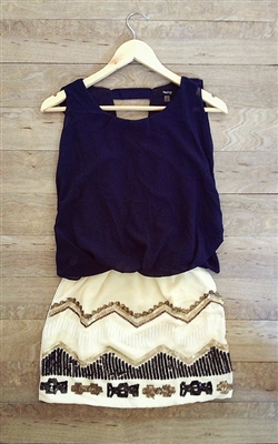 sequin chevron party dress