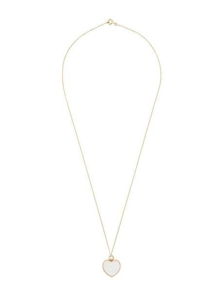 AURELIE BIDERMANN heart women baby necklace gold grey metallic jewels