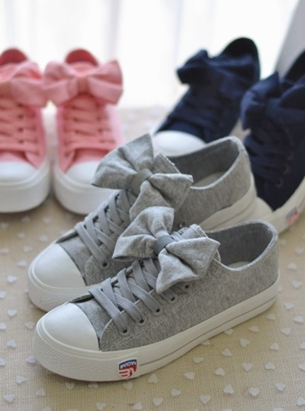 shoes sneakers bow
