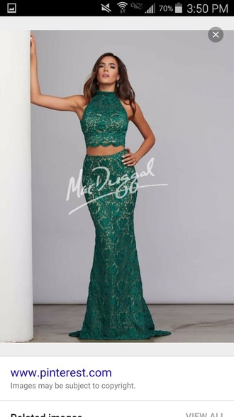 dress sea green green mcduggle prom dress two piece prom dresses