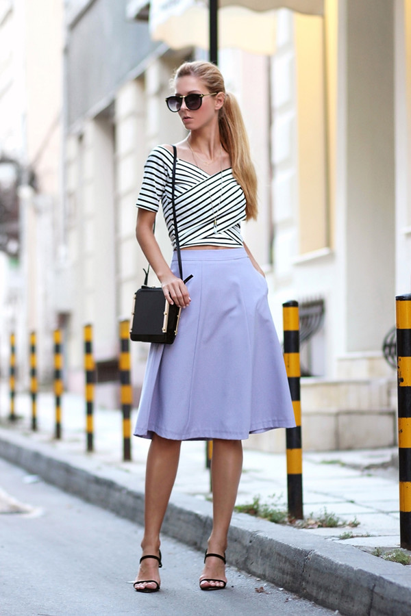 sirma markova skirt t-shirt bag shoes