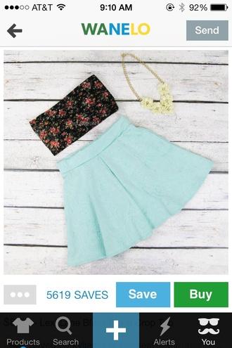 tank top bandeau floral black cute girly skirt