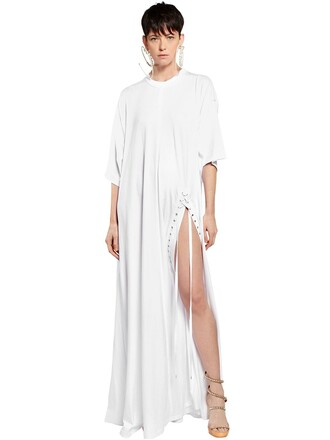 dress jersey dress oversized cotton white