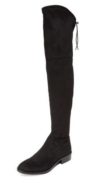 over the knee boots black shoes