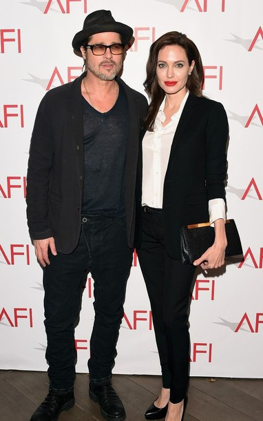 afi awards angelina jolie clutch blazer saint laurent