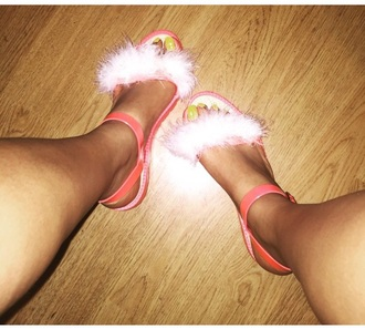 shoes fur sandals flat sandals style