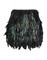 Feather skirt mini black peacock raibow silver night party evening